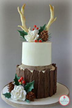 Cake Gallery - Dough Re Mi Designs Christmas Themed Cake, Christmas Wedding Cakes, Christmas Cupcakes, Christmas Sweets, Holiday Cakes, Christmas Baking, Xmas Cakes, Fancy Cakes, Cute Cakes