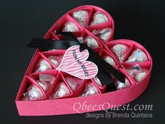 Large Hershey's Heart Tutorial | Hershey's Kisses, Simply Scored, Valentine's Day, Groovy Love Stamp Set, Sweetheart Punch, Stampin' Up