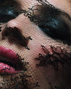 veiled. Love this shot thru the lace.