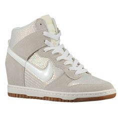 Nike Dunk Sky Hi - Women's - Basketball - Shoes - Met Luster/Sail/Gum Med Brown/Sail
