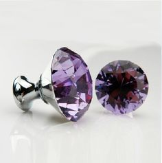 purple cabinet knobs-for my kitchen :) Knobs And Knockers, Knobs And Handles, Knobs And Pulls, Cabinet Drawers, Cabinet Knobs, Drawer Hardware, Purple Cabinets, White Cabinets, Purple Kitchen