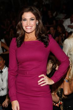 Kimberly Guilfoyle Photos - TV personality Kimberly Guilfoyle poses with FIJI Water at the Milly Spring 2012 show during Mercedes-Benz Fashion Week on September 2011 in New York City. - FIJI Water at Milly Spring 2012 Mercedes-Benz Fashion Week The Five On Fox, Fox New Girl, Female News Anchors, Kimberly Guilfoyle, Look Office, San Francisco, Girl Celebrities, Hot Dress, Chic Outfits