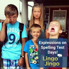 We can help change that expression!  Find fun lessons for spellings at http://lingojingo.com/home