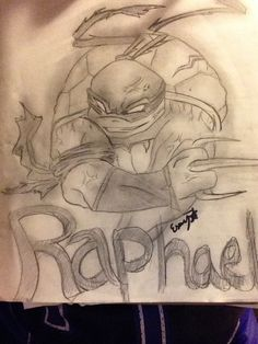 Raphael TMNT drawing or sketch.