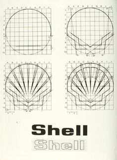 Raymond Loewy, proportional Diagrams for Shell logo Logo Evolution, Retro Design, Graphic Design, Logo Luxury, Logo Desing, Logo Process, Design Movements, Great Logos, Art Graphique