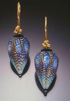 Polymer clay earrings by Elise Winters Серьги из полимерной глины