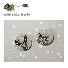 Animals in the snow Pins by freshfish postcards Postcard Design, Postcards, Christmas Cards, Snow, Graphic Design, Animals, Christmas E Cards, Animales, Animaux