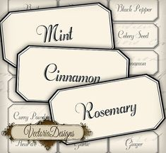 INSTANT DOWNLOAD Herbs and Spices Labels