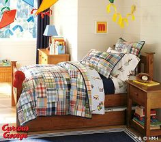 boys room bedding curious George. I need this for b man