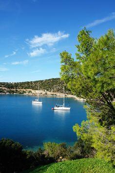 Coast in Poros island, Greece