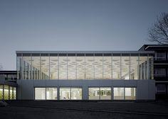 The Forum auditorium at Eckenberg Gymnasium by Ecker Architekten #architecture