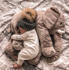 This elephant pillow is made from only the highest quality plush materials. The we . Die we… This elephant pillow is made of only the highest quality … - So Cute Baby, Little Babies, Baby Kids, Cute Children, Mom And Baby, Baby Baby, Baby Boy Toys, Boy Or Girl Baby, Babies With Dogs