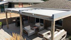 Pergola With Roof, Outdoor Pergola, Patio Roof, Outdoor Rooms, Rooftop Terrace Design, Rooftop Patio, Terrasse Design, Backyard Patio Designs, Outdoor Kitchen Design