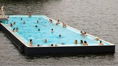 Water Purifying Floating Pool Cleans New York S Rivers
