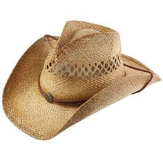 1d313839fdb Vented Country Straw Shapeable Cowboy Hat w  Chinstrap