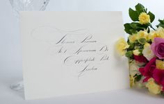 calligraphy envelope with spencerian script