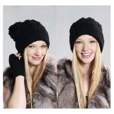 1131f6a1ed7 SODIAL- Spring Retro Oversized Slouch Ladies Warm Stretch Beanie Bobble Hat