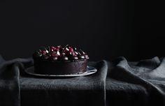 Chocolate Mudcake with Ganache and Fresh Berries