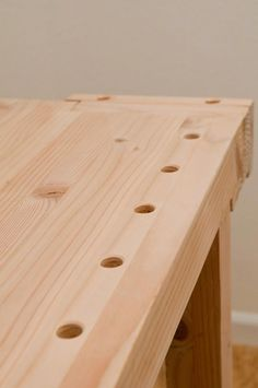 Woodworking Bench Plans of Woodworking Diy Projects - How to Drill Perfectly Vertical Bench Dog Holes in Your Workbench Woodworking Bench Plans, Woodworking School, Beginner Woodworking Projects, Learn Woodworking, Popular Woodworking, Woodworking Furniture, Woodworking Crafts, Wood Plans, Woodworking Store