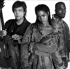 Four Five Seconds: Rihanna surprised her fans on Saturday by announcing some new music with Kanye & Paul I like the new song