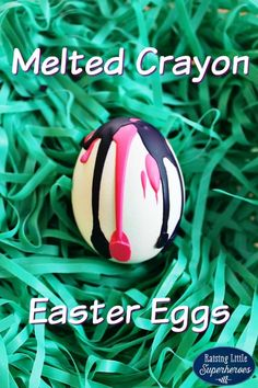 Skip the store bought dyes this year and decorate your Easter Eggs with melted crayons.