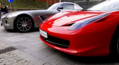 Mercedes SLS AMG & Ferrari 458 /// GT Polonia 2013