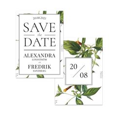 Vilda blad – Save The Date – The Paper Story Save The Date, Place Cards, Dating, Place Card Holders, Paper, Products, Quotes