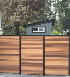Vista Privacy Fencing - clear western red cedar infill slats with powder-coated aluminum frame Privacy Fences, Fencing, Cedar Paneling, Cedar Fence, Panel Systems, Western Red Cedar, Fence Panels, Garage Doors, Shed