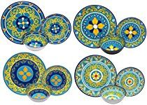 Melange 12 Piece 100 Melamine Dinnerware Set Gardens Of Italy Collection Shatter Proof And Ch Melamine Dinnerware Sets Melamine Dinnerware Dinnerware Set