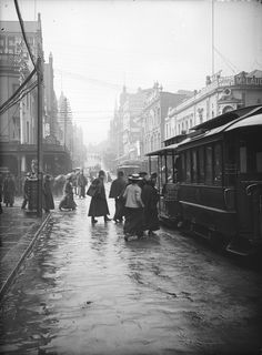 Sydney street scenes including pedestrians on King Street, George Street, Pitt…