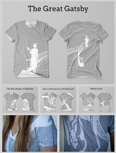 Litographs - entire books printed on shirts