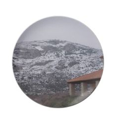 Snowy Mountain Plate