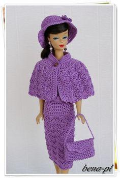 bena-pl Clothes for Silkstone, Vintage Barbie, Victoire Roux OOAK outfit