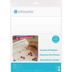 "Silhouette Printable Scratch-Off Sticker Sheets 8.5""X11"" 5pk - White"