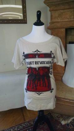 Velvet Revolver Shirt BRAND VELVET REVOLVER WHITE FEMALE STYLISH CLOTHING TRENDY | eBay