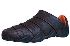 Puma Satori Mens Leather Slip on Sneakers / Shoes - Brown