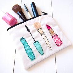 Applique Make Up Bag