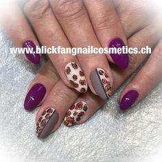 "Stephy Villemain on Instagram: ""#nagelstudio #nagelstudiobasel #nailart #design #leoparddesign #fullcovernails #matt #glanz #gloss #violet #studionails #inkcolor…"" Violet, Nail Art, Nails, Beauty, Instagram, Nail Studio, Sparkle, Finger Nails, Ongles"