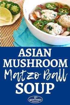 Who's in the mood for matzo ball soup? The classic soup recipe gets a new twist with the addition of shiitake mushrooms! Best Mushroom Soup, Mushroom Side Dishes, Best Mushroom Recipe, Vegetarian Mushroom Recipes, Matzo Ball Soup Recipe, Classic Soup Recipe, Mushroom Appetizers, Matzo Meal, Stuffed Mushrooms