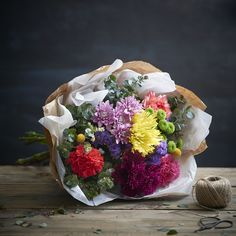 Natural Elegance Bright Bouquet of Flowers