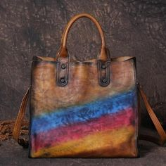 Handmade Full Grain Leather Women Tote Bag, Shopper Bag, Ladies Handbag G8070
