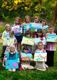 Creatively Quirky at Home: Painting Artist party