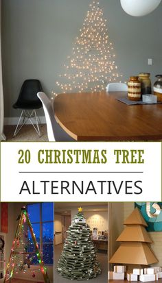TOP 20 DIY Alternative Christmas Tree Ideas. this is going to be way too fun, hehe
