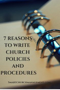 If you have policies, here are some reasons you should be writing them down! Church Ministry, Youth Ministry, Ministry Ideas, Opening Prayer For Meeting, Security Finance, Church Fellowship, Church Design, Christian Living, Spiritual Growth