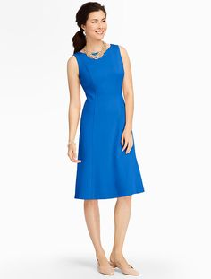 Talbots - Ponte Fit-And-Flare Dress | Dresses | Misses. Would love this with a cardigan