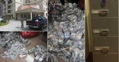 Photos of where EFCC discovered $43.4m, £27,800 and N23.2m cash