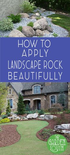 Rock is one of the quickest and easiest ways to add depth, texture, interest, height, and maintenance-free interest to your landscape. Rock is popular in many part of the country because it's easy to (Diy Garden Edging) Country Landscaping, Landscaping With Rocks, Front Yard Landscaping, Landscaping Supplies, Landscaping Tips, Landscaping Contractors, Landscaping Software, Gardening Supplies, Acreage Landscaping