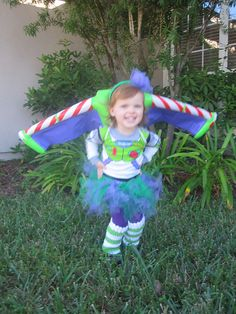 Buzz LightGirl, Halloween costume for little girls that love Buzz Lightyear and Toy Story.