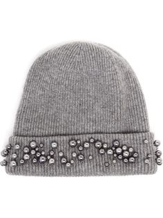 Maison Michel Embellished Beanie Hat - Browns - Farfetch.com