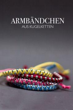 Armband aus Kugelkette - DIY Blog lindaloves.de